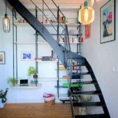 Fabricant-L-escalier-metal-Vertou-Nantes-44-bois-acier-quart-tournant-bibliotheque